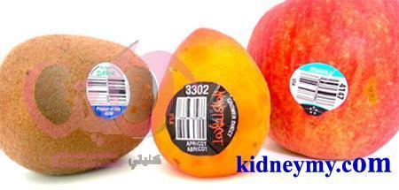 حقيقة الملصقات والارقام علي الفاكهة والخضار