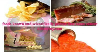 الأطعمة المعروفة والمثبتة علميا انها تسبب السرطان