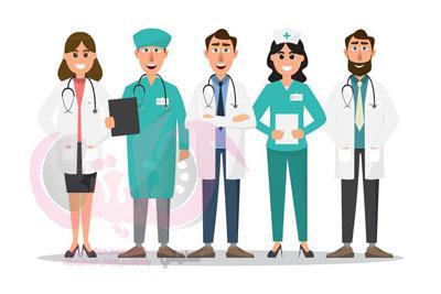 فريق الرعاية الصحية بغسيل الكلى